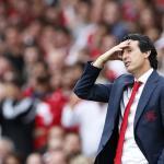 Emery lamentándose en un partido del Arsenal. / fourfourtwo.com