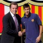El doble contrato que Sandro Rosell haría a Neymar. Foto: Cadena SER