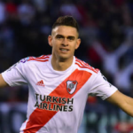 """""""La única opción de River de arrebatarle a Santos Borré al Atlético. Foto: Getty Images"""""""