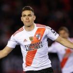 """Rafael Santos Borré, """"muy feliz en River"""". Foto: FutbolRed"""