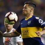 Zárate durante un partido de Boca Juniors. / a24.com