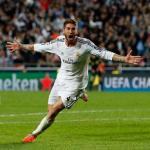 Sergio Ramos celebrando un gol con la camiseta merengue. Foto: RealMadrid.com