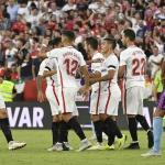 Sevilla, celebrando un gol este curso / twitter