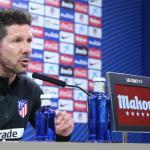 Diego Simeone en rueda de prensa / Atlético