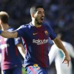 Luis Suárez, celebrando un gol / twitter