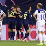 El Atalanta tras recibir un gol en Zagreb. / foxdeportes.com