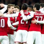 Arsenal, celebrando un gol esta temporada / twitter