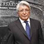 Enrique Cerezo, durante un acto / Atlético de Madrid.