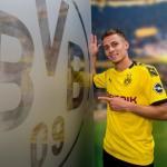 Thorgan Hazard, con el Dortmund / Twitter