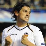 Tino Costa celebra un gol en Mestalla/lainformacion.com/Getty Images