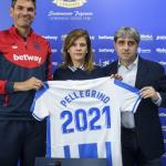 Txema Indias, director deportivo del Leganés, junto a la presidenta y Mauricio Pellegrino / CD Lganés