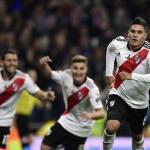 River celebrando un gol contra Boca. / t13.cl