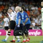 Gameiro saliendo lesionado de un partido. / lasprovincias.es