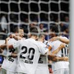 Valencia, en partido de pretemporada / twitter