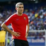 Ernesto Valverde, durante un entrenamiento / fcbarcelona.es