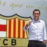 Valverde en su presentación / Barça