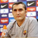 Ernesto Valverde durante una rueda de prensa en el Camp Nou / FC Barcelona