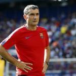 Ernesto Valverde en un entrenamiento / Barça