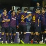 Los jugadores del Barça 'B', celebrando un gol (FC Barcelona)