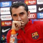 Ernesto Valverde, en un entrenamiento / twitter