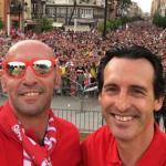 Monchi y Unai Emery, en su etapa en el Sevilla FC.