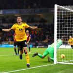 Raúl Juménez celebra un tanto con el Wolverhampton / Premier League