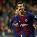 Coutinho celebra un gol en el Barça / Barça