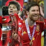 Xabi Alonso, en diversos momentos de su carrera / UEFA