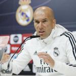 Zidane, en rueda de prensa / Twitter