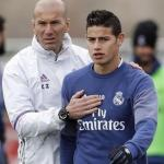 Zidane dando intrucciones a James (Youtube)