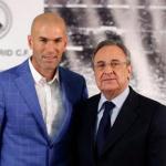 Zinedine Zidane y Florentino Pérez posan ante los medios / Real Madrid.
