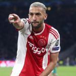 Ziyech celebra un gol / Champions League
